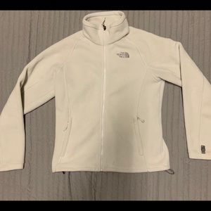The North Face White Full Zip Fleece Jacket